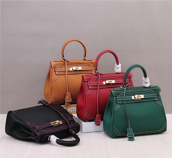 Fashion Genuine Leather Kelly Bags Ladies Stylish Handbag Dropship
