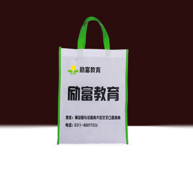 Large Reusable Handle Grocery Tote non woven shopping bag