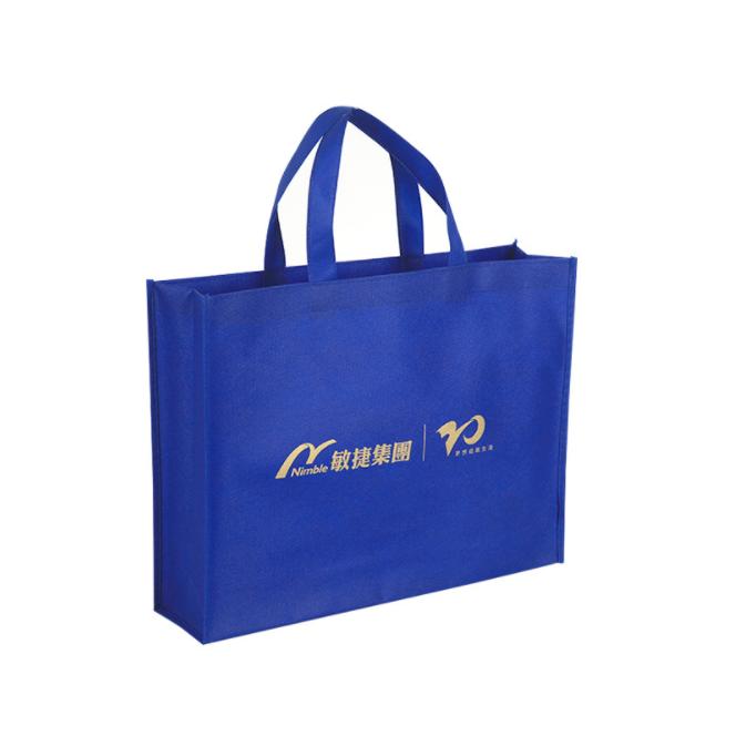 100% PP Spunbond Non woven Fabric Eco-Friendly Blue Reusable Nonwoven Bag