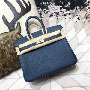 High Quality Royal Blue Togo Leather Ladies Bags Handbags Famous Brand Luxury Handbags