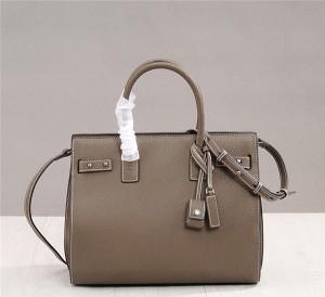 OEM Made Brown Lychee Leather Designer Handbag-Ladies Big Shoulder Bag Organ Bag
