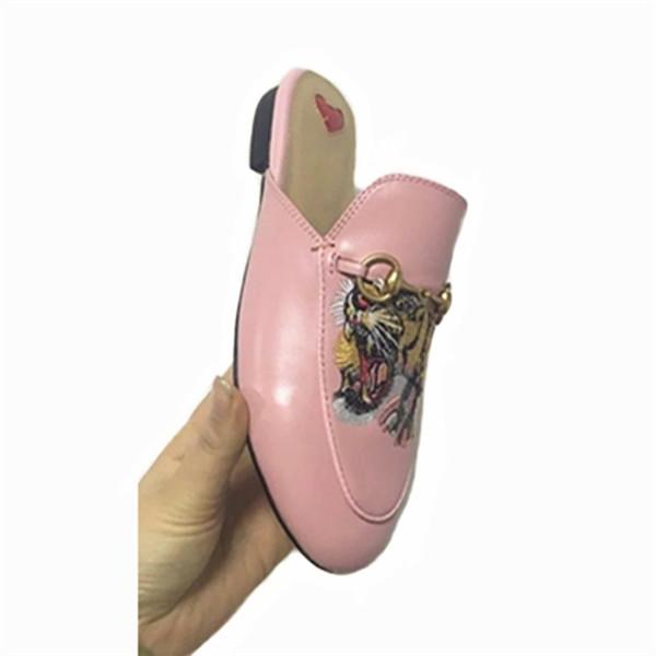 Pink Sheepskin Outdoor Half-Slipper Shoes Women Slip-On Shoes Factory