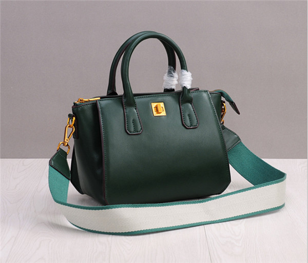 Green Leather Shell Bags Designer Purse