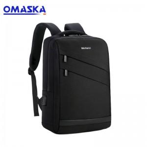 2019 China custom logo fashion waterproof nylon charging usb laptop backpack