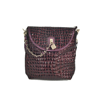 Fashion luxury high-end women handbags purple crocodile leather handbags