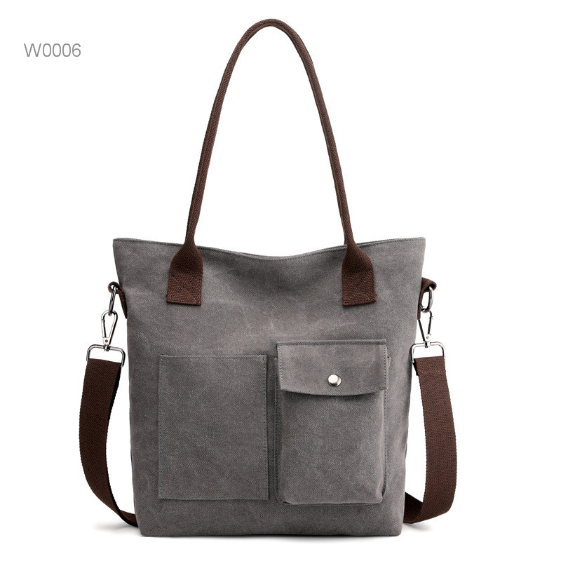 Wholesale stripe canvas beach tote bag  Cotton Canvas Stripe Bag With Reliable Rope Tote Stylish