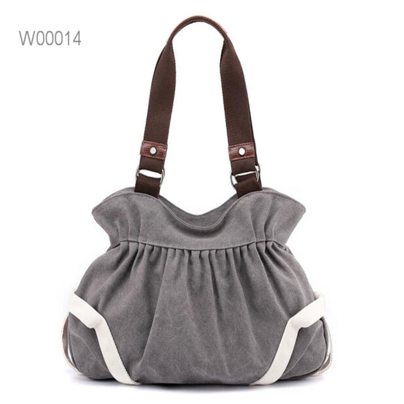 Natural Canvas Bag Women Shoulder Bags Cotton Tote Bag