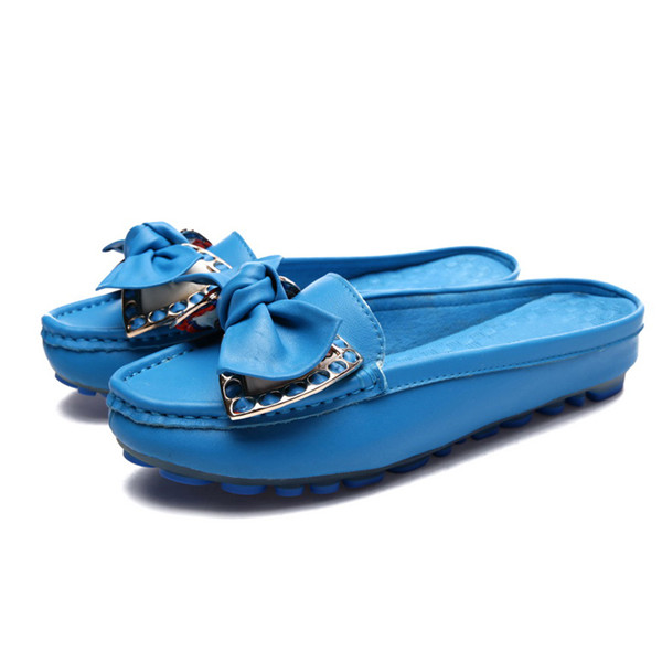 Customizing Blue Outsole Designer Loafers Women