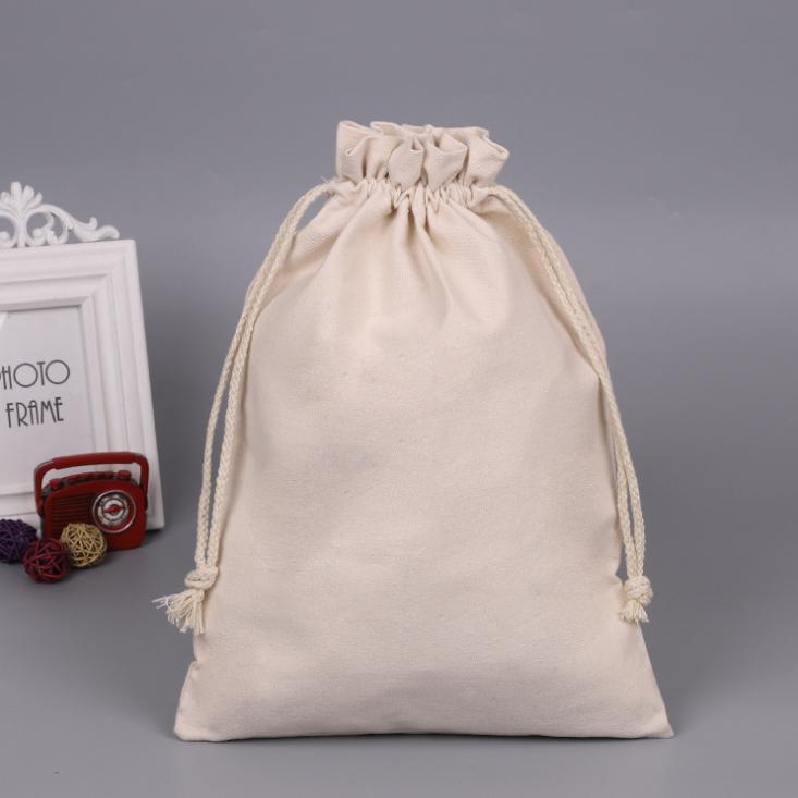 Personalized Drawstring bag natural gift storage drawstring canvas bag