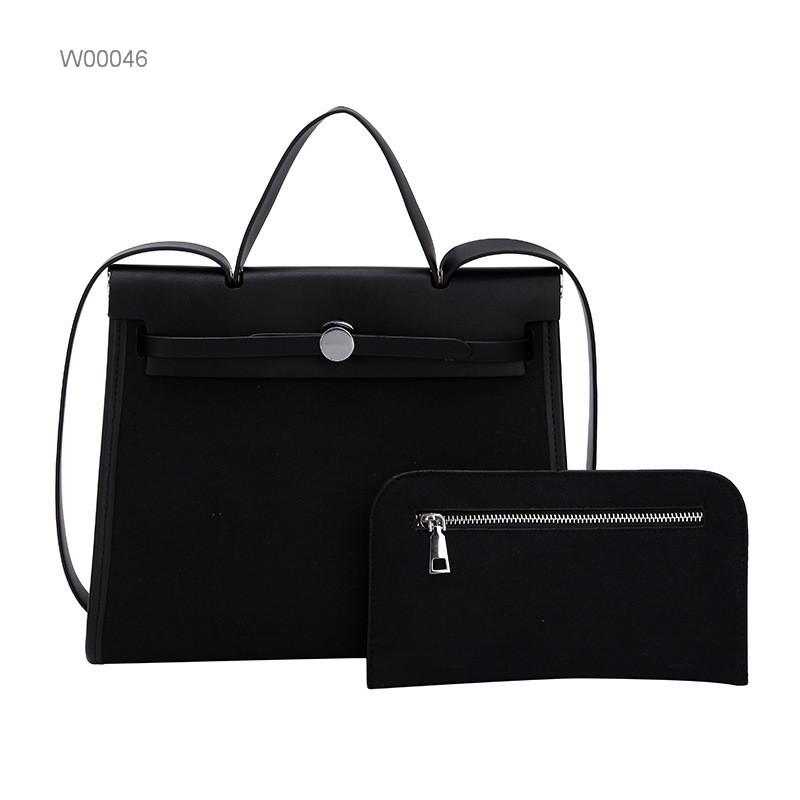 2019 fashion women handbags canvas tote handbag cute