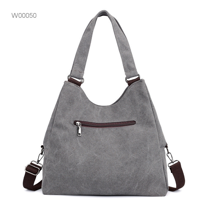 Large fashion leather canvas tote crossbody bag women Featured Image