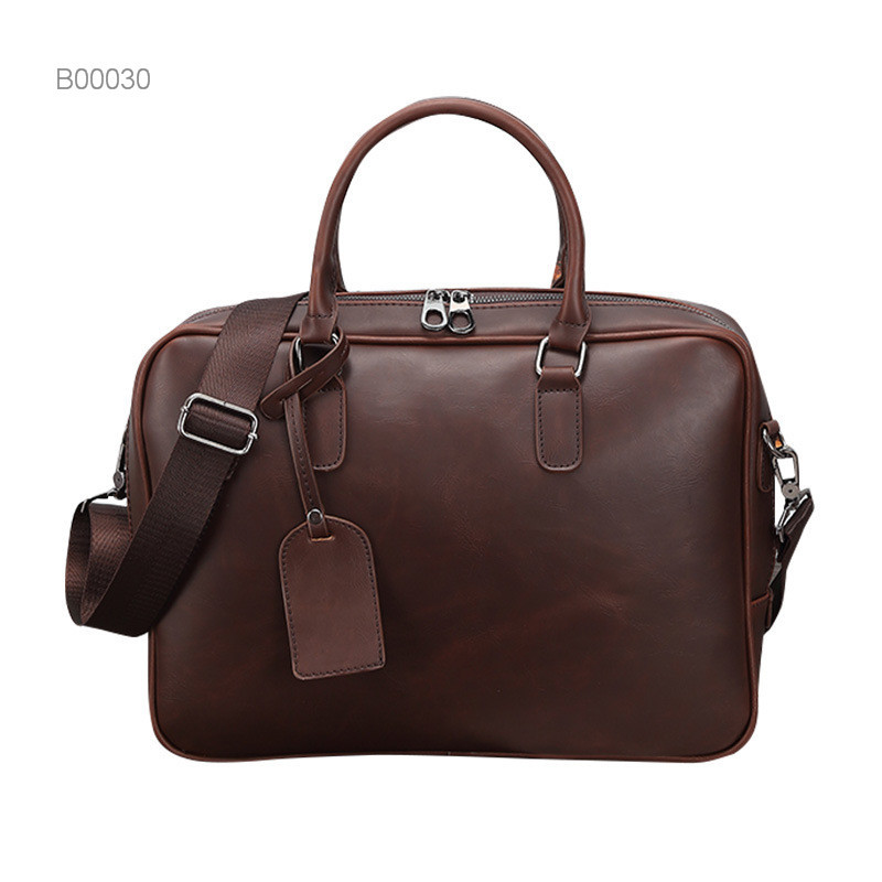 OEM durable pocket briefcase leather briefcase leather men's bag