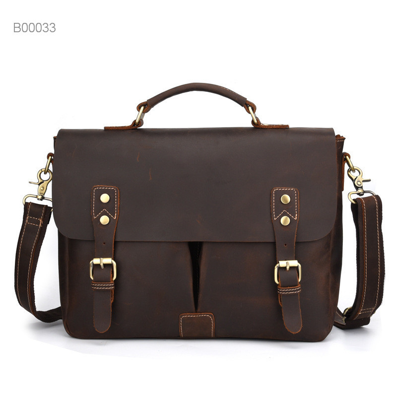 Multifunctional Men's Leather Tote Bags Men's Casual PU Leather Fashion Business Briefcase