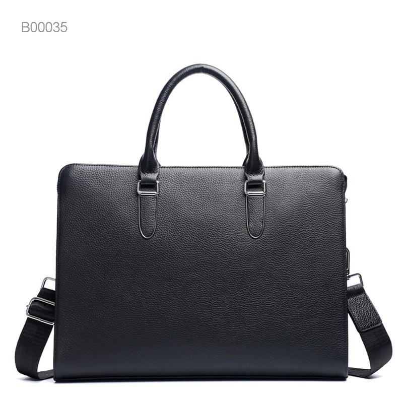 Business office Briefcase Men Leather Tote Computer Laptop bag male Handbag Leisure Large Shoulder Bags