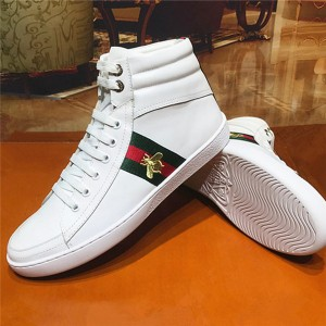 White Lace Up Ankle Sports Sneakers For Couples Sheep Skin Inner Shoes