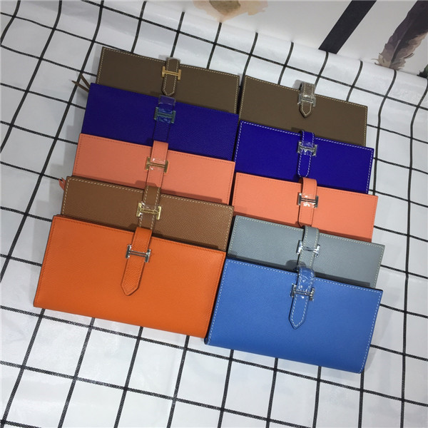 Epsom Leather Long Wallets with Card Holder