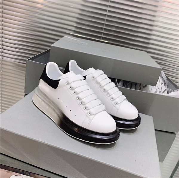 First Comfort Fashion black Transparent Sole Trainers Made of Top Layer Cowhide leather sneakers Featured Image