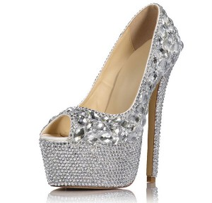 16cm High Heel Platform Pumps Ladies Party Shoes Factory