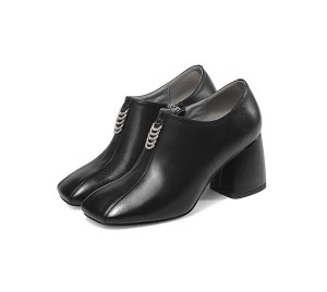 7cm Slip-On Thick Heel Famous Designer Shoes