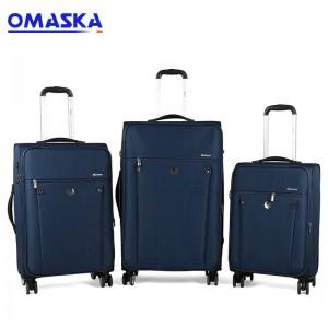 ew Design OMASKA Baigou Factory 20 24 28inch 4 wheels Custom Nylon 3 pcs set Travel Carry-on Trolley Soft Luggage