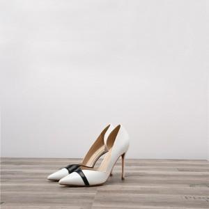 Dropship Women White Stiletto Summer Heels