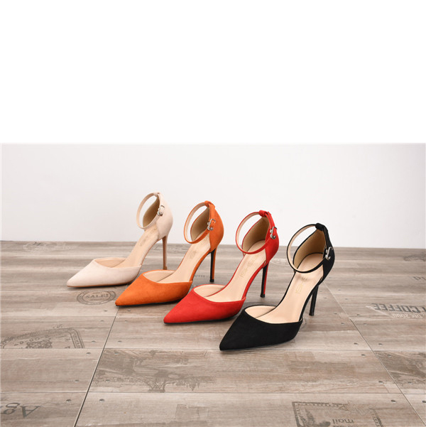 Drop-ship In Store Women Lace-up Suede High Heel Shoes