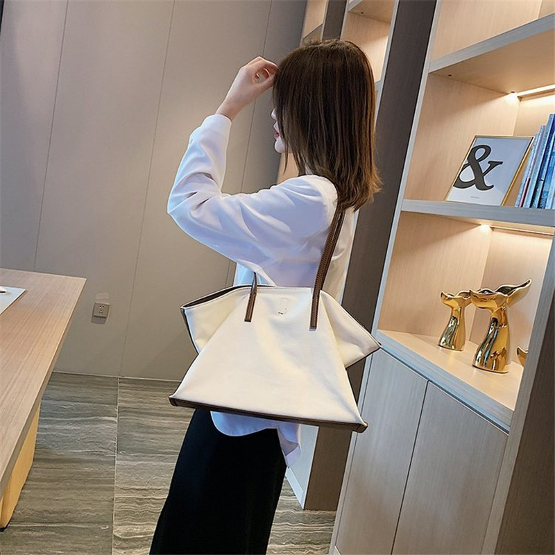 2019 Wholesale women canvas customized tote hand bag
