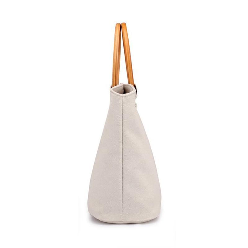 Custom logo women teacher canvas tote bag