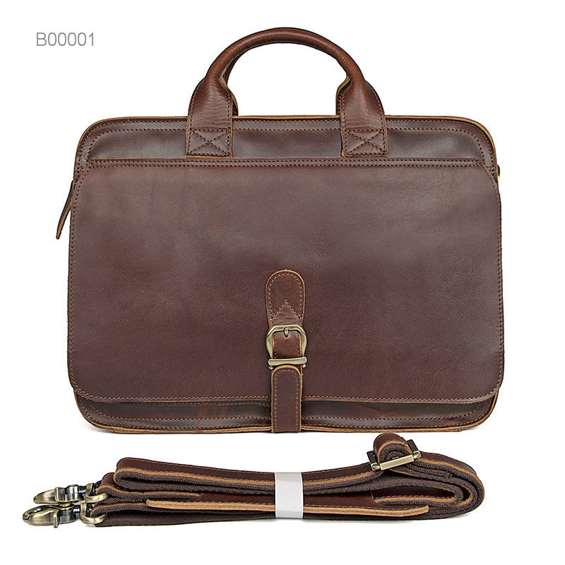 Men pu Leather Briefcases laptop Messenger Bag
