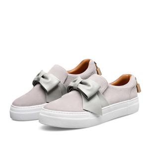Best Hot Sellers Grey Suede Loafers Sheepskin Women
