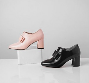 7cm Heel Genuine Leather Pointed Retro Business Shoes