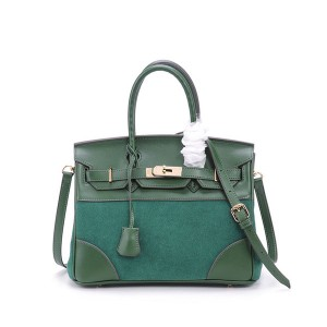 Nice Quality Green Suede Bags For Women Gorgeous Brand Handbags Can Custom Logo