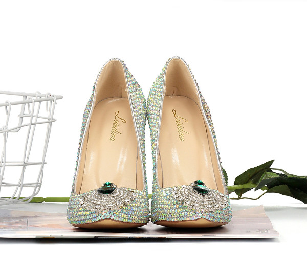 Women Fashion Crystal Stiletto Shoes Heels Featured Image