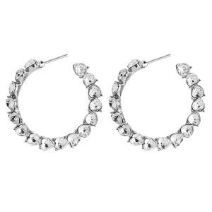 Wholesale Europe And The United States Fashion Women Earrings Pretty Rhinestone Earrings