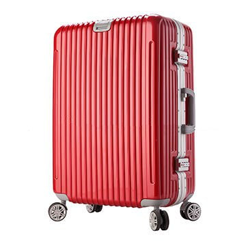 Aluminium ABS luggage trolley with 4 wheels