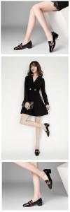 Women Patent Leather Dress Shoes Square Toe