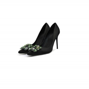 Red Silk Satin Shoes Wedding Shoes Stilettos Ladies