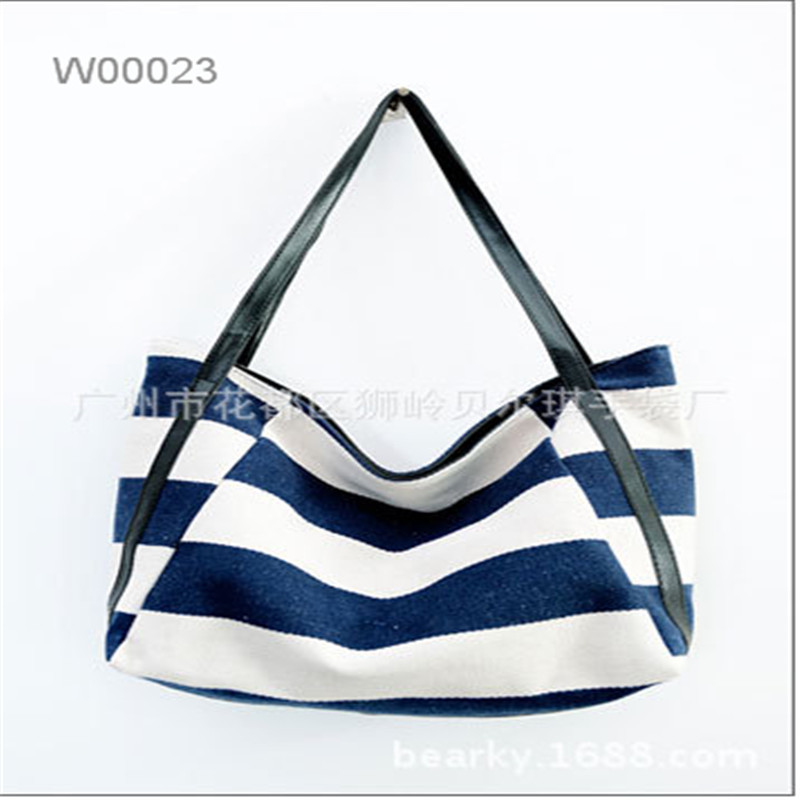 Factory made fashion leisure large capacity canvas outdoor women tote bag