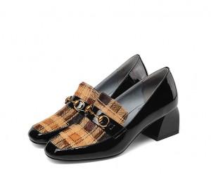 England Style Women Big Heeled Shoes