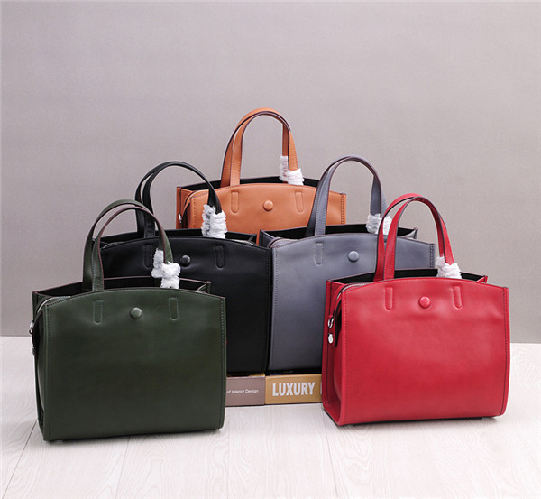 High Quality Cowhide Leather Handbags For Women Satchel Bag