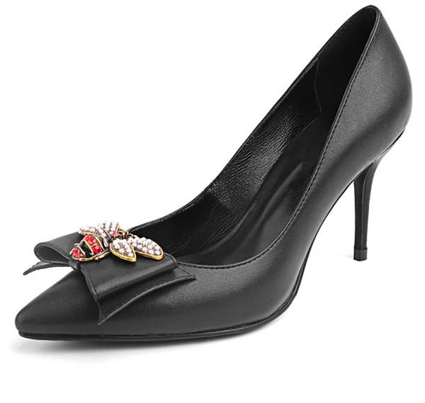 Wholesale Black Sheepskin Sexy Heels Featured Image