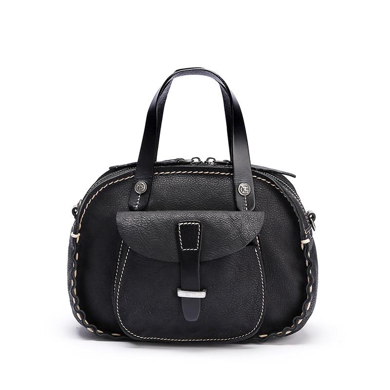 Handmade Stitching Leather Bag for women, Lady handbag