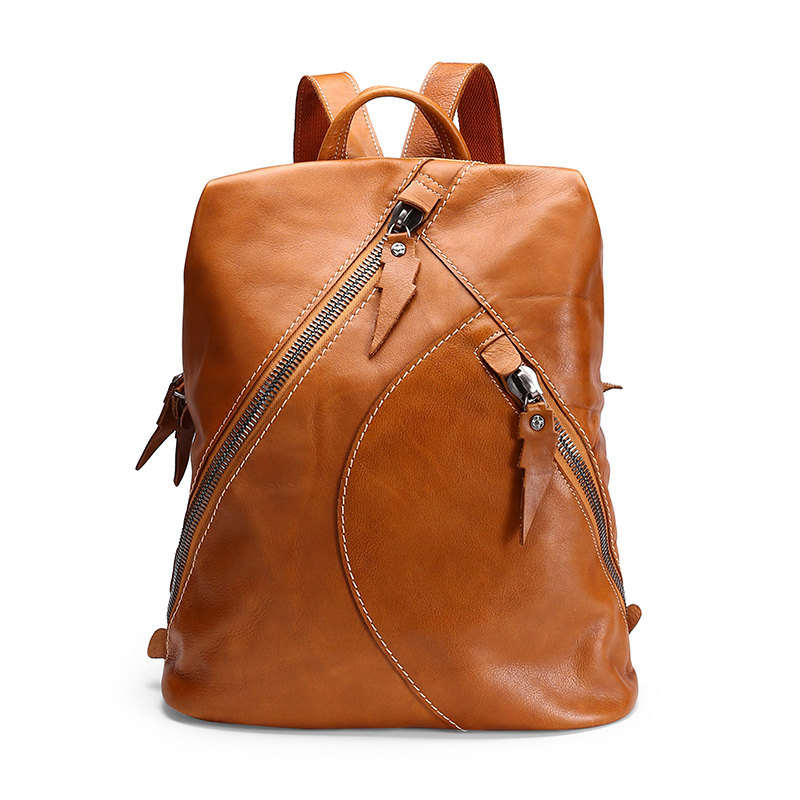 Genuine Leather Backpack, Casual Travel Leather Backpack,