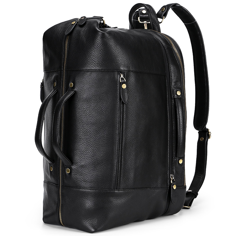 6 In 1 Genuine Leather Duffel & Backpack Travel Bag Leather Backpack
