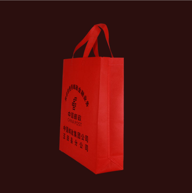 Trading show red non-woven bag tote bag can be customized on your logo