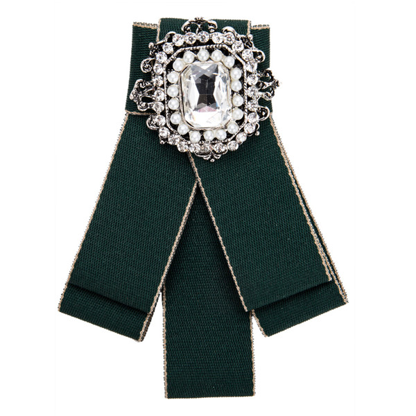 Green Multi-Layer Canvas Corsage Circle Rhinestone-Studded Brooch Students Corsage Bohemian Necklace Ladies Dragonfly Corsage
