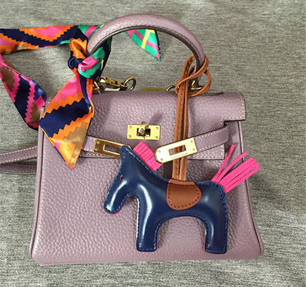 Pony Hanging Accessory Fashion Mini Leather Horse For Bags Accessory