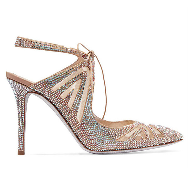 Famous Brand Designer Sandals With Rhinestone Diamond Crystal Featured Image