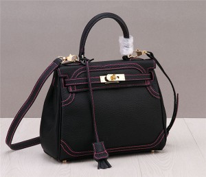 Genuine Leather Women Ladies Designer Bags Handbags Black