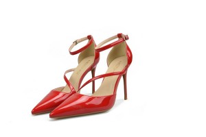 Size Range From Size 32 To Size 46 Red Patent Leather Stiletto Shoes Pumps Women